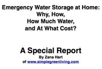 Free PDF about Emergency Water Storage at Home