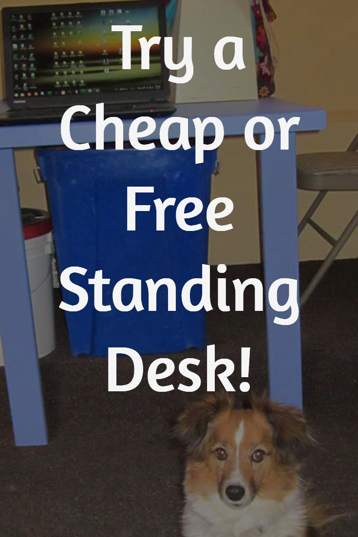 Try an inexpensive standing desk for health and easier working!