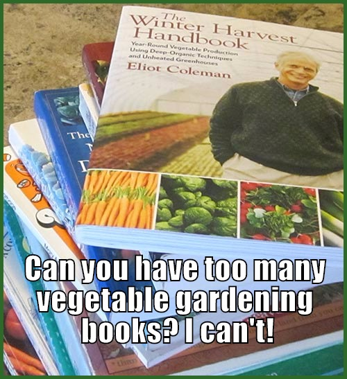 just some of our gardening books